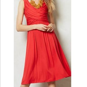 Anthro Girls From Savoy Cross Front Red Dress